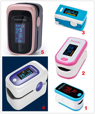 Fingertip Pulse Oximeter Heart Rate Monitor Blood Oxygen Saturation Meter +Pouch