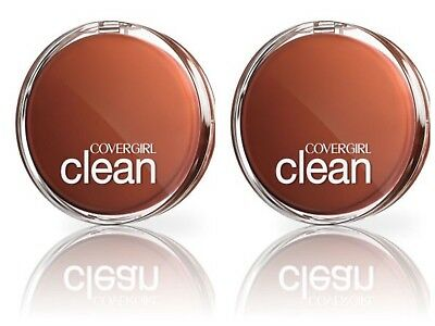 2 x COVERGIRL CLEAN PRESSED POWDER FOUNDATION NORMAL SKIN - 120 CREAMY NATURAL