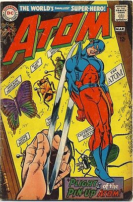 THE ATOM #35 1968 VG+ LONDON 1671 Time Pool Story COLONEL TOM BLOOD Gil Kane