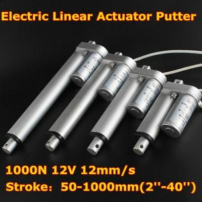 2''-40'' 50-1000mm Stroke 1000N 24V 12mm/s Electric Linear Actuator Putter Motor