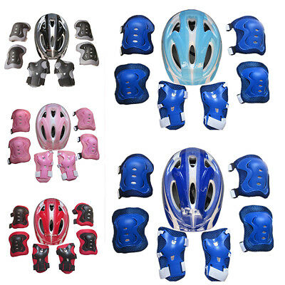 7Pcs/Set Kids Roller Skating Helmet​ Knee Elbow Wrist Pad Protective Gear Hot