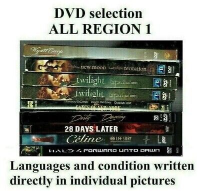 DVD SELECTION SOLD SEPARATELY - ALL REGION 1 (CANADA-USA) Some Special Editions
