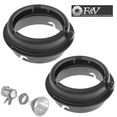 2pcs - Elinchrom To Bowens Mount Interchangeable Ring Speedring Adapter Flash