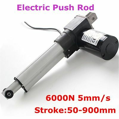 Electric Push Rod Lifter Telescopic Rod DC24V Motor 6000N 5mm/s 50-900mm Stroke