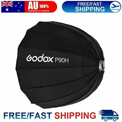 Godox P90H 90cm Parabolic Softbox Reflector for Flash Speedlite Bowens Mount