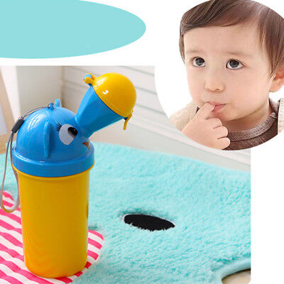 Cute Baby Portable Urinal Travel Car Toilet Vehicular Potty Yellow For Boys