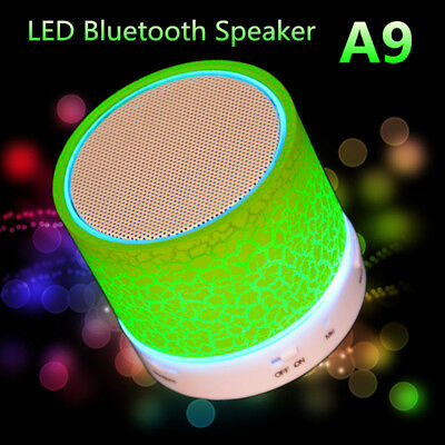 Portable LED Mini Wireless Bluetooth Smart Music Audio Speaker USB FM Radio lot