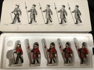 DEPT. 56  Heritage Village Yeomen of the Guard Set of 5 #58397