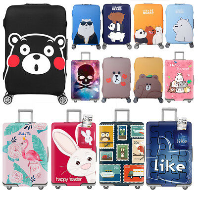Cartoon Style 20/24/28/30'' Travel Luggage Suitcase Elastic Protector Cover Bags