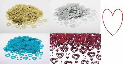 Heart confetti wedding table decoration sprinkles sparkle scatter party