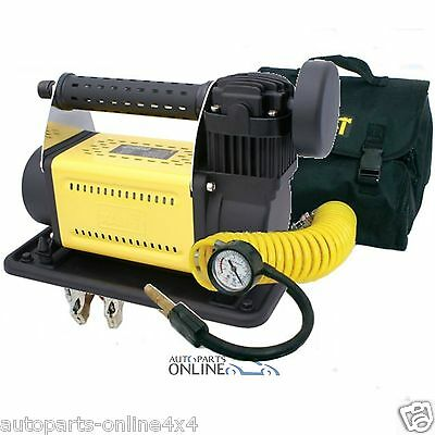 T Max Heavy Duty 12V Portable Air Compressor Car Van Truck 4X4 Tyre Pump-Ba2641