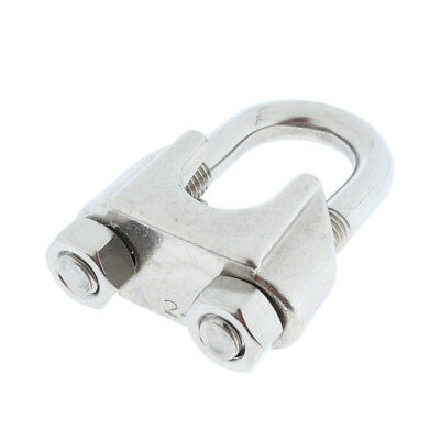 M12 Stainless Steel U-Shape Bolt Saddle Clamp Cable Clip for Wire Rope 24mm