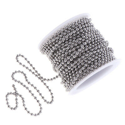 Beaded Ball Chain Stainless Steel Cable 1 Roll 13yd Handmade Jewelry Home