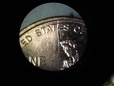 2009 P  Lincoln Cent Rare Wddr 013 Stage D W / Huge Die Crack On Reverse By Head
