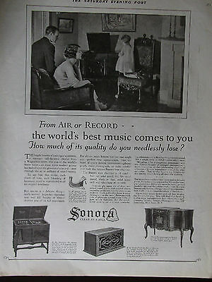 1924 Sonora Phonographs  Clear As A Bell Advertisement