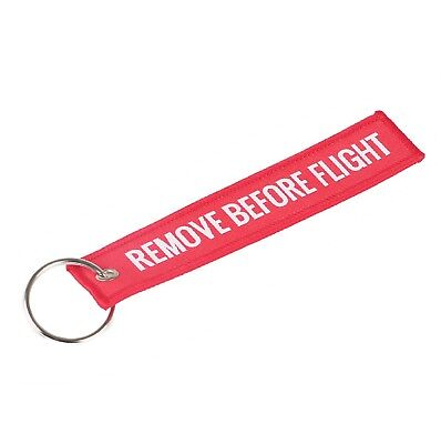 REMOVE BEFORE FLIGHT Luggage Tag Label Key Chain Ring Aviation