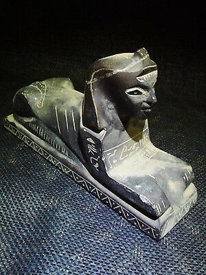 EGYPTIAN ARTIFACT ANTIQUITIES Sphinx Sculpture Statue Figure 30 BC-395 AD