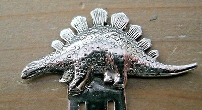 Beautiful Solid Silver Dinosaur Bookmark
