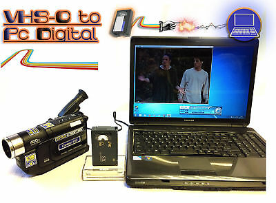 Compact VHS-C Player / Recorder Kit ~ Convert VHS-C Tape To DVD PC + CAMCORDER