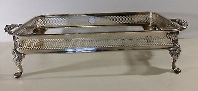 Vintage Silver plated Casserole Dish Stand Leonard Silverplated EP Br Lead MTS
