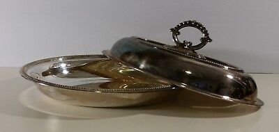 Vintage Silver plated Serving dish with Lid Benedict Proctor NS 40327 England