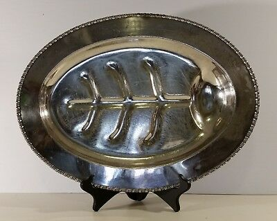 Vintage Footed Meat Serving Dish Middletown Silverware EPNS NSB 2216 Conn. USA