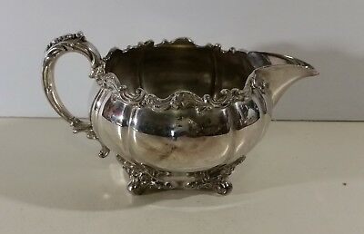 Vintage Silver Plated Creamer 037 Made & Guaranteed by  Meriden Company