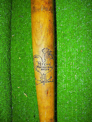 "Vintage Peters Weatherbird Shoes Wood Baseball Bat 32"" - Great Shape"
