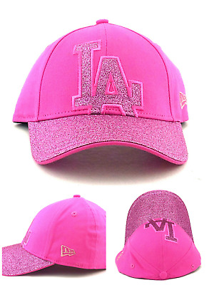 Los Angeles Dodgers LA New Era 9Twenty Youth Girls Glitter Logo Pink Hat Cap b59952c1f
