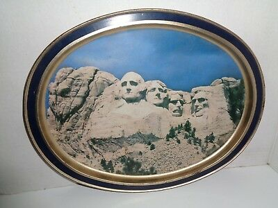 Mount Rushmore, Tin Lithographed Serving Tray, From Sunshine Biscuits, 1986 VG+