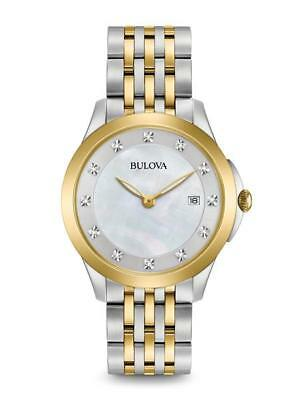 Bulova Women's Diamond Accent TwoTone Stainless Steel Watch 98P161
