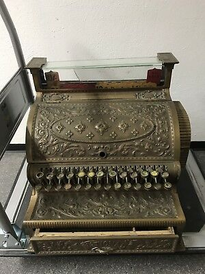 Registrierkasse National Cash Register Co. Dayton Ohio C.a. 1890 Massiv Bronze