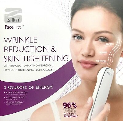 AUTHENTIC Silk'n FaceTite Wrinkle Reduction & Skin Tightening Anti Aging Device