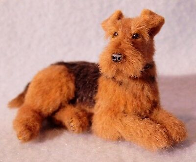 Original 1/12th Dollhouse Scale Airedale Terrier Dog, EBSQ, Cammi's
