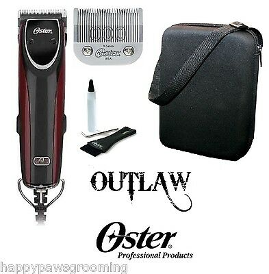 Oster OUTLAW 2-speed SUPER-DUTY Clipper KIT&Cryogen-X 000 Detachable Blade,CASE