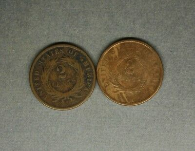 2 Cent Pieces 1864 / 1865   ..................415