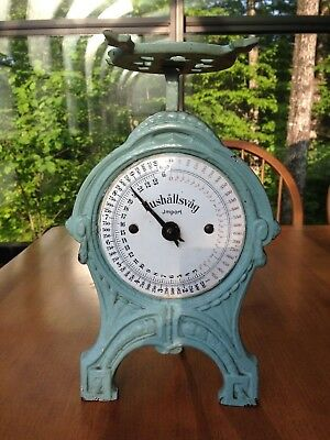 Hushallsvag Candy Scale, Cast Iron and Porcelain, Vintage or perhaps Antique