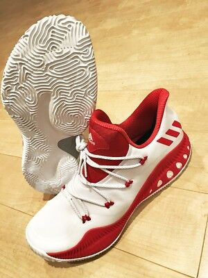 finest selection ce6ba 5a4e9 NEW ADIDAS Crazy Explosive Low White Red Basketball Shoe Men SZ 13.5 (BY3234 )