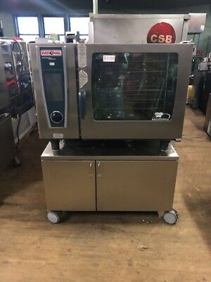 Rational Oven SCC62G Self Cooking Center Gas Combi Oven Used With Stand