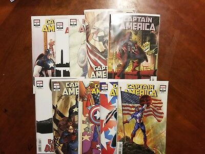 Captain America 1 Variant Covers Lot Of 10