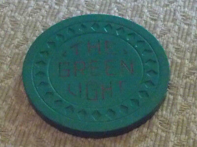 THE GREEN LIGHT $25 HOTEL CASINO Gaming CHIP $2.99 shipping