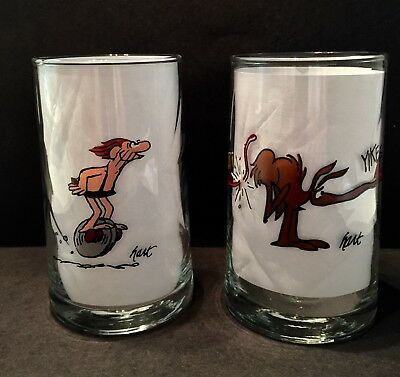 Vintage B.C. ICE AGE Glasses Collectors Series-ARBYS-1981-Grog-Caveman-EXCELLENT