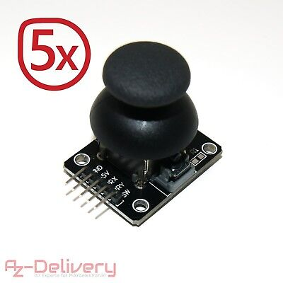 AZDelivery Joystick Breakout Module Ky 023Pack of 5for Arduino UNO R3
