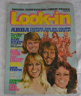 Look In Magazine. Issue 24. 9Th June 1979. Abba Pin Up New Lp Free P&p