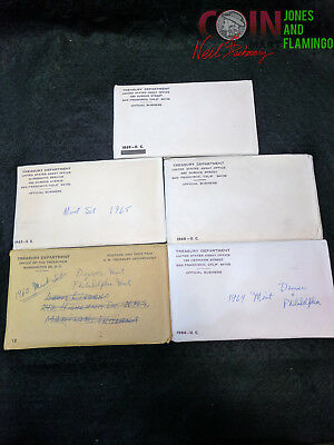 inv#2066 US 1960'S MIXED DATE MINT SETS LOT OF 5