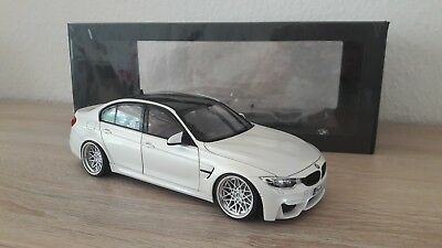 Modellauto 1:18. BMW M3 F80 Competition. NOREV. Mineralweiss. Tuning/Umbau.