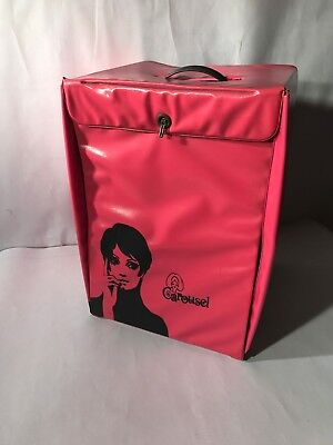 Vintage Mod Retro 60s 70s ORIGINAL Carousel Hot Pink Wig Box Fashion Storage Cas