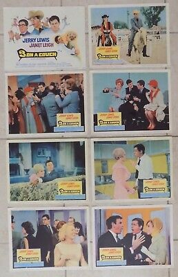 "Jerry Lewis Three on a Couch Lobby Card Set of 8 11"" x 14"" 1966 Janet Leigh"