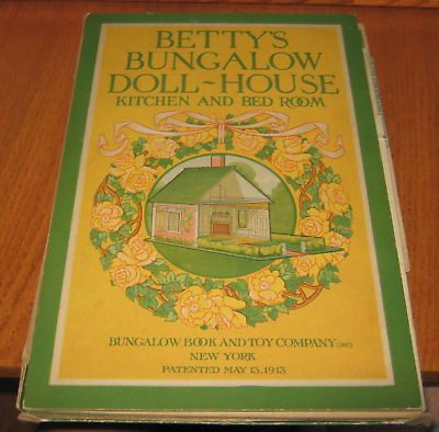 1913 Betty's Bungalow Doll-House Kitchen And Bedroom Bungalow & Toy Co. Inc