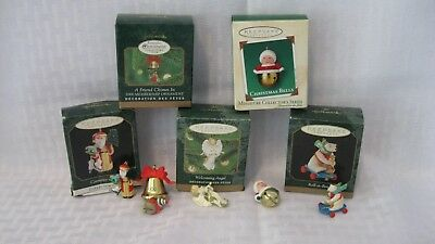 Hallmark Keepsake Ornaments Mini Mixed Lot of 5 used w/boxes